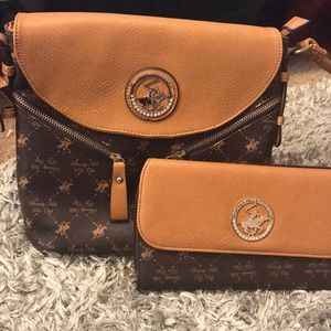 Beverly hills polo club purse & wallet